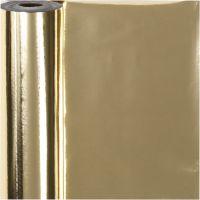 Papel para regalo, A: 50 cm, 65 gr, dorado, 100 m/ 1 rollo