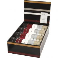 Cinta rizada, A: 18 mm, surtido de colores, 40x25 m/ 1 paquete