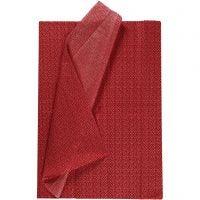 Papel de seda, 50x70 cm, 17 gr, rojo, 6 hoja/ 1 paquete