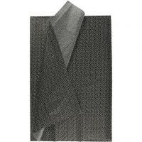 Papel de seda, 50x70 cm, 17 gr, negro, 6 hoja/ 1 paquete
