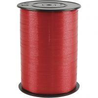 Cinta de plástico, A: 10 mm, glossy, rojo, 250 m/ 1 rollo
