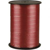 Cinta de plástico, A: 10 mm, glossy, ruby, 250 m/ 1 rollo