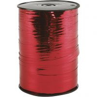 Cinta de plástico, A: 10 mm, glossy, rojo metalizado, 250 m/ 1 rollo