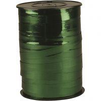 Cinta de plástico, A: 10 mm, glossy, verde metálico, 250 m/ 1 rollo