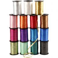 Cintas de plástico- surtido, A: 10 mm, glossy, surtido de colores, 15x250 m/ 1 paquete
