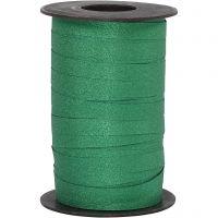 Cinta para rizar, A: 10 mm, purpurina, verde, 100 m/ 1 rollo