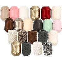Cinta de plástico mate, A: 10 mm, beige perla, 12x3 rollo/ 1 paquete