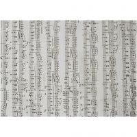 Papel vellum, notas musicales, A4, 210x297 mm, 115 gr, 10 hoja/ 1 paquete