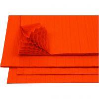 Papel de seda colmena, 28x17,8 cm, naranja, 8 hoja/ 1 paquete