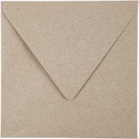 Sobres de papel reciclado, medida sobre 16x16 cm, 120 gr, natural, 50 ud/ 1 paquete