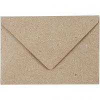 Sobres de papel reciclado, medida sobre 7,8x11,5 cm, 120 gr, beige, 50 ud/ 1 paquete