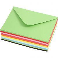 Sobres de colores, medida sobre 11,5x16 cm, 80 gr, 10x10 ud/ 1 paquete