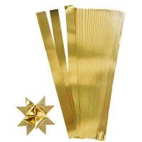 Tiras de papel para estrellas, L. 45 cm, A: 10 mm, dia: 4,5 cm, dorado, 100 tiras/ 1 paquete