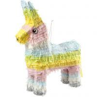 Piñata, medidas 39x13x55 cm, colores pastel, 1 ud