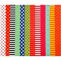 Papel satinado, Estampado , 24x32 cm, 80 gr, surtido de colores, 50 hojas stdas/ 1 paquete