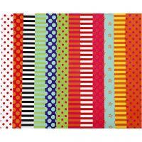 Papel satinado, Estampado , 32x48 cm, 80 gr, surtido de colores, 100 hojas stdas/ 1 paquete