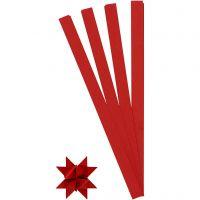 Tiras de papel para estrellas, L. 45 cm, dia: 6,5 cm, A: 15 mm, rojo, 100 tiras/ 1 paquete
