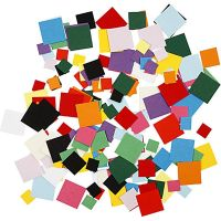 Cartulina para mosaico, cuadrados, medidas 10+15+20 mm, 180 gr/ 1 paquete