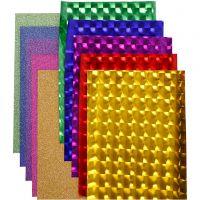 Plástico fino decativo (foil), A: 35 cm, grosor 30+110 my, surtido de colores, 10x2 m/ 1 paquete
