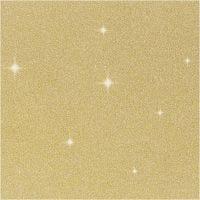 Glitter Film , A: 35 cm, grosor 110 my, dorado, 2 m/ 1 rollo