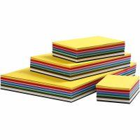 Cartulina kraft coloreada, A2,A3,A4,A5,A6, 180 gr, surtido de colores, 1800 hojas stdas/ 1 paquete