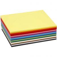 Cartulina kraft coloreada, A6, 105x148 mm, 180 gr, surtido de colores, 300 hojas stdas/ 1 paquete