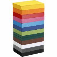 Cartulina de colores, A6, 105x148 mm, 180 gr, surtido de colores, 12x100 hoja/ 1 paquete