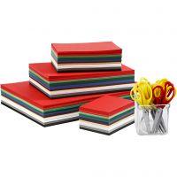 Cartulinas navideñas, A3,A4,A5,A6, 180 gr, surtido de colores, 1 set