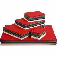 Cartulinas navideñas, A2,A3,A4,A5,A6, 180 gr, surtido de colores, 1800 hojas stdas/ 1 paquete