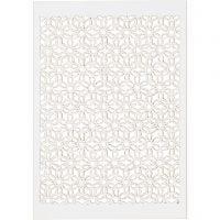 Cartulina con dibujos de encaje, 10,5x15 cm, 200 gr, blanco, 10 ud/ 1 paquete