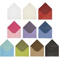 Sobre, medida sobre 11,5x16 cm, El contenido puede variar , 100 gr, surtido de colores, 30 paquete/ 1 paquete