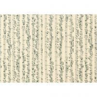 Cartulina, notas musicales, A4, 210x297 mm, 180 gr, 10 hoja/ 1 paquete