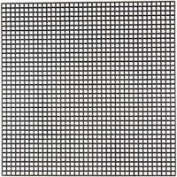 Plástico para punto de cruz , medidas 14x14 cm, medida agujero 3x3 mm, negro, 5 hoja/ 1 paquete