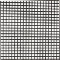 Plástico para punto de cruz , medidas 14x14 cm, medida agujero 3x3 mm, negro, 50 hoja/ 1 paquete