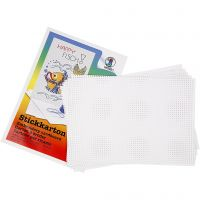 Cartulina para punto de cruz, medidas 23x33 cm, 3x3 agujeros por centímetro , blanco, 10 hoja/ 1 paquete
