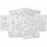 Cartulina de diseños para punto de cruz, 3x3 agujeros por centímetro , 8x5 hoja/ 1 paquete
