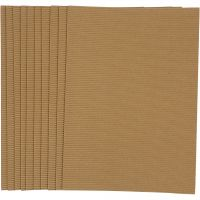Cartulina corrugada, 25x35 cm, 120 gr, 10 hoja/ 1 paquete