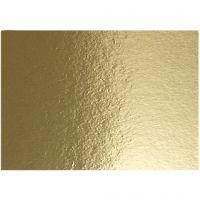Cartulina metalizada, A4, 210x297 mm, 280 gr, dorado, 10 hoja/ 1 paquete