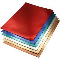 Cartulina metalizada, A4, 210x297 mm, 280 gr, surtido de colores, 30 hojas stdas/ 1 paquete