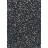 Papel , A4, 210x297 mm, 80 gr, negro, 20 hoja/ 1 paquete
