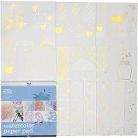 Bloc para colorear con diseños, medidas 30,5x30,5 cm, blanco, 12 hoja/ 1 ud