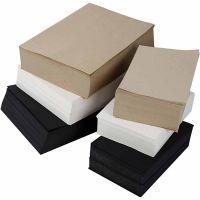 Papel Kraft, A3,A4, 100 gr, negro, gris, noble, blanco, 6000 hojas stdas/ 1 paquete