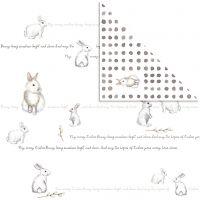 Papel estampado, conejo, 30,5x30,5 cm, 180 gr, 5 hoja/ 1 paquete