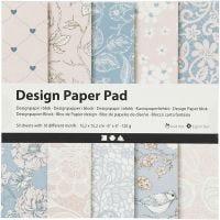 Bloc de papel de diseño, 120 gr, rosado, 50 hoja/ 1 paquete