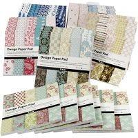 Bloc de papel de diseño, 15,2x15,2 cm, 120 gr, surtido de colores, 6x10 ud/ 1 paquete