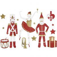Figuras movibles, A: 10-165 mm, 300 gr, dorado, rojo, blanco, 2 hoja/ 1 paquete