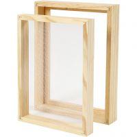 Molde de marco doble para la fabricación de papel, A5, medidas 25x19x3cm , 1 ud