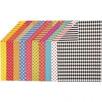 Cartulina decorada, A4, 210x297 mm, 250 gr, surtido de colores, 200 hojas stdas/ 1 paquete