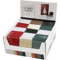 Postales y sobres, medida tarjeta 10,5x15 cm, medida sobre 11,5x16,5 cm, 12x10 paquete/ 1 paquete