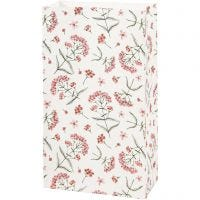 Bolsas de papel, Flores, A: 21 cm, medidas 6x12 cm, 80 gr, 8 ud/ 1 paquete